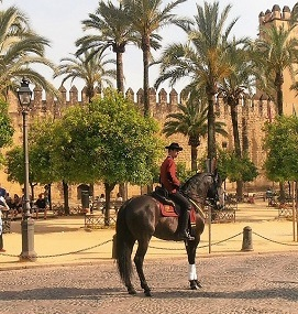 Typical Dress in Cordoba in Front of Alcazar